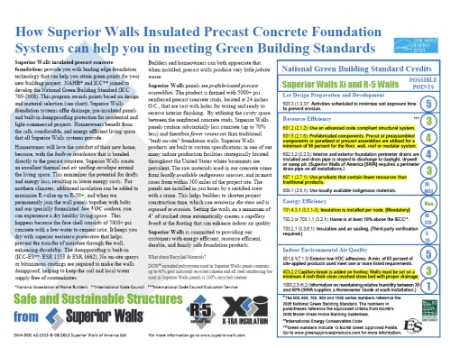 Click on the image above for information about how Superior Walls products can help you to obtain National Green Building Standard and LEED Credits.
