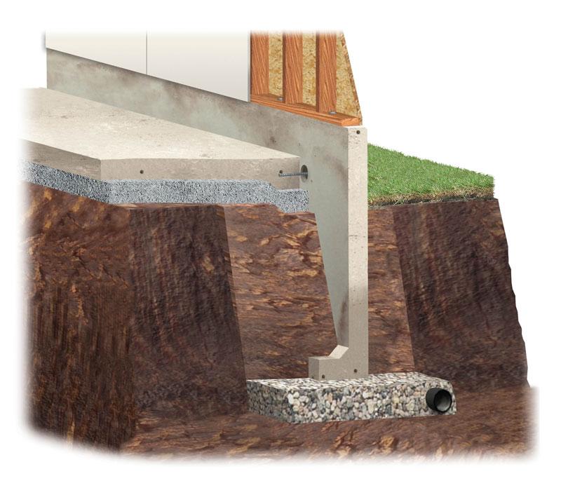 Precast Concrete Custom Foundations, How Thick Is A Poured Concrete Basement Wall